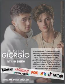 View more information about Austin Giorgio from The Voice & Jon Dretto Virtual Show